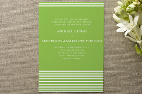 Spring Stripes Wedding Invitations
