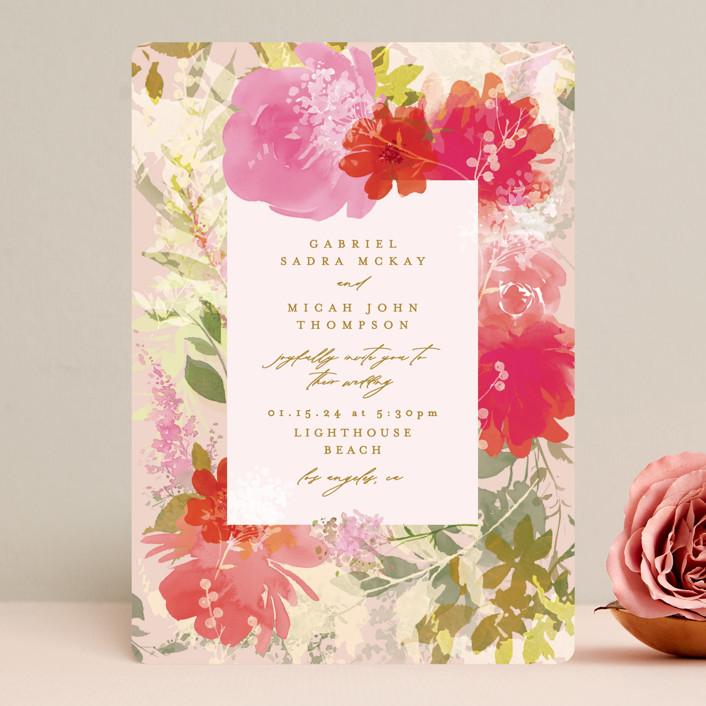"""Delightful"" - Wedding Invitations in Delight by Phrosne Ras."
