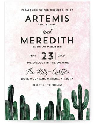 Cacti Wedding Invitations