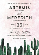 Cacti Wedding Invitations By Cass Loh