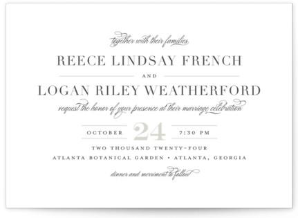 Classical Wedding Invitations