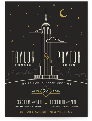 Empire Wedding Invitations By Geekink Design