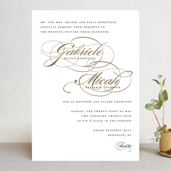"""Flourish"" - Wedding Invitations in Antique by Jennifer Postorino."