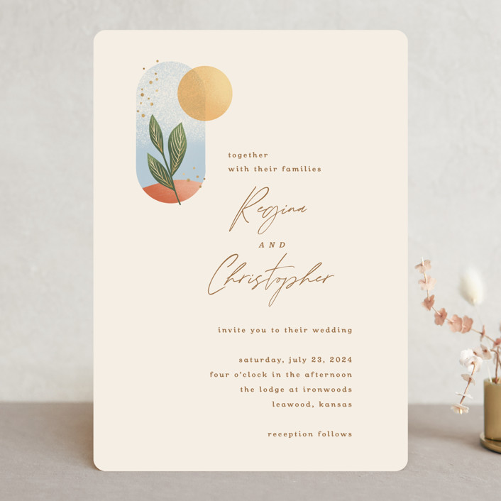 """""""Essence"""" - Modern Wedding Invitations in Ivory by Laura Bolter."""