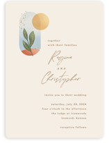 This is a beige wedding invitation by Laura Bolter called Essence with standard printing on signature in standard.