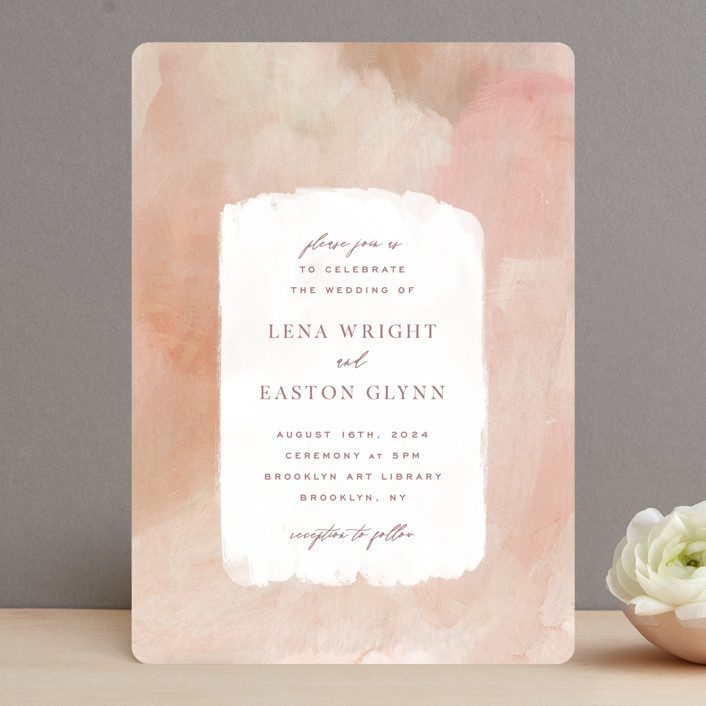 """Magic Hour"" - Wedding Invitations in Desert Rose by Hooray Creative."