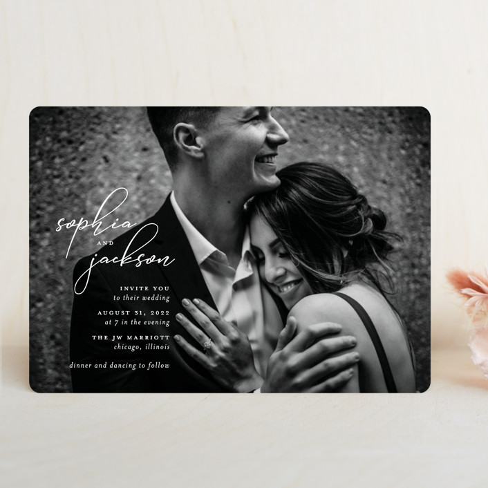 """""""Kindly Join Us"""" - Wedding Invitations in Pearl by Laura Hamm."""