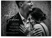 This is a white wedding invitation by Laura Hamm called Kindly Join Us with standard printing on signature in standard.