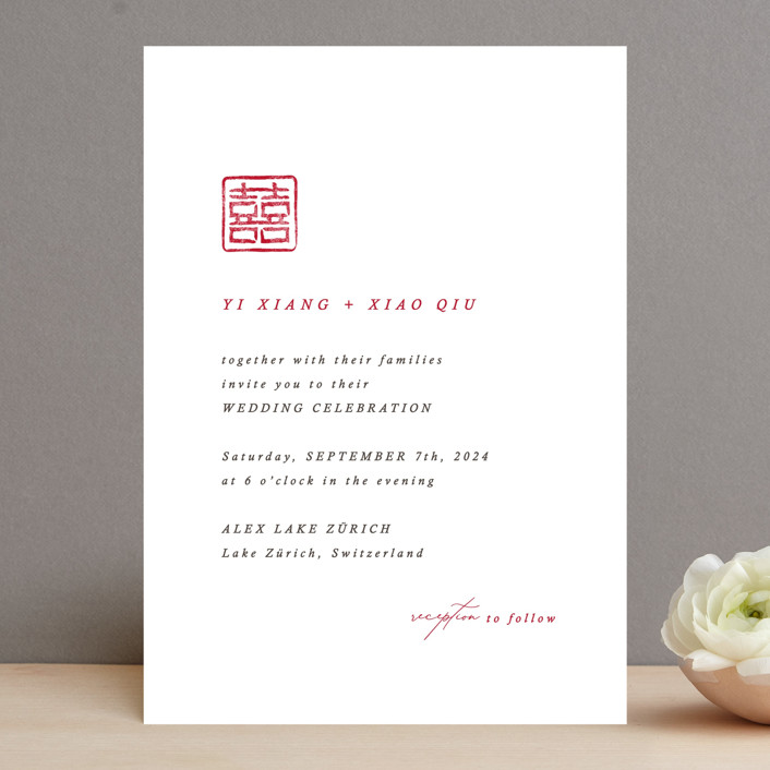 """""""Double Xi"""" - Wedding Invitations in Cherry by fatfatin."""