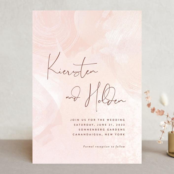 """dawning"" - Wedding Invitations in Sunrise by Jennifer Wick."