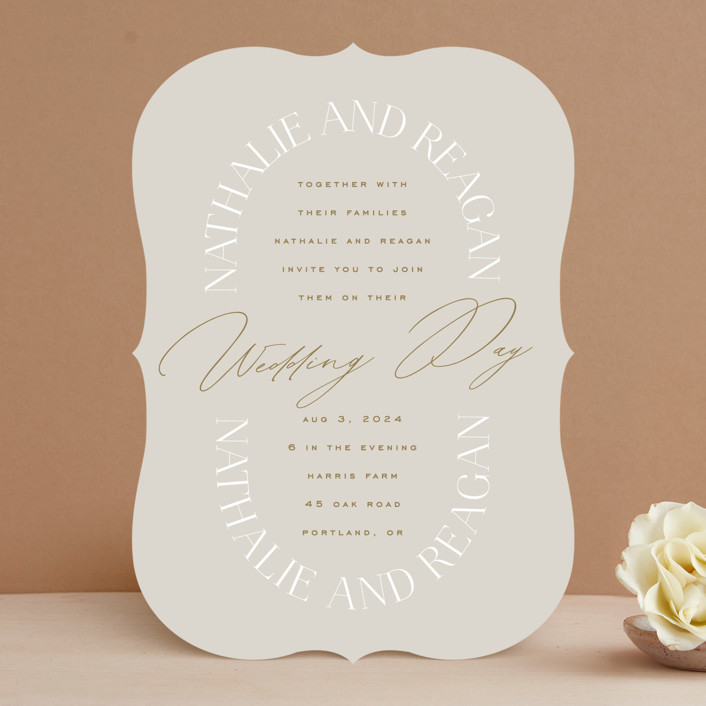 """""""Oval"""" - Wedding Invitations in Natural by Leah Bisch."""