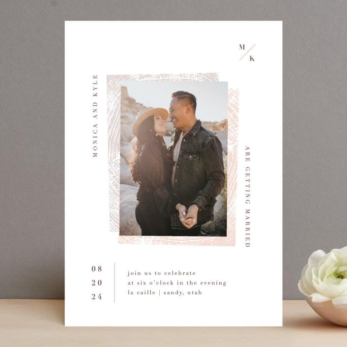 """engrained"" - Rustic Wedding Invitations in Blossom by Robin Ott."