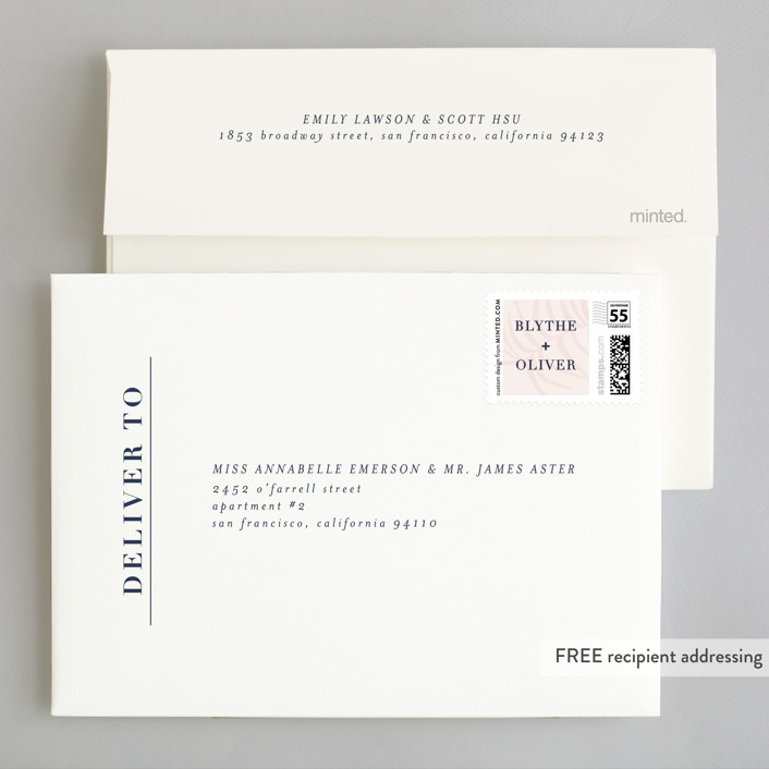 Acapulco wedding invitations by angela marzuki minted invitation suite free wedding website envelope design stopboris Gallery