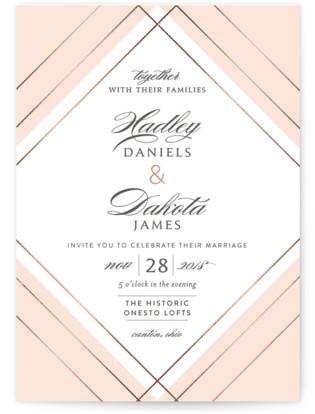 Elegantly Lined Wedding Invitations