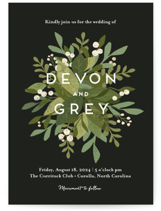 Laurel of Greens Wedding Invitations