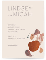 This is a orange wedding invitation by Chelsea Petaja called Painted Sands with standard printing on signature in standard.