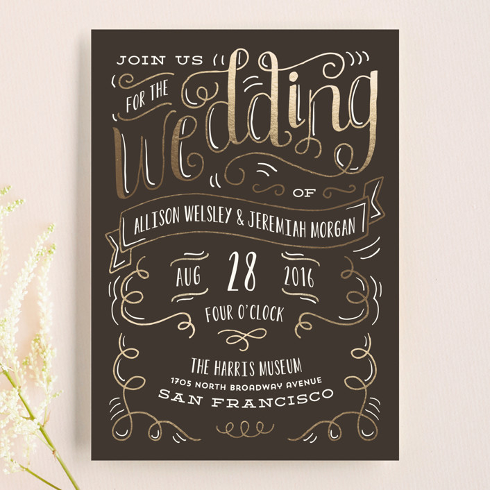 """""""Handlettered Heart"""" - Rustic Wedding Invitations in Ink by Laura Hankins."""