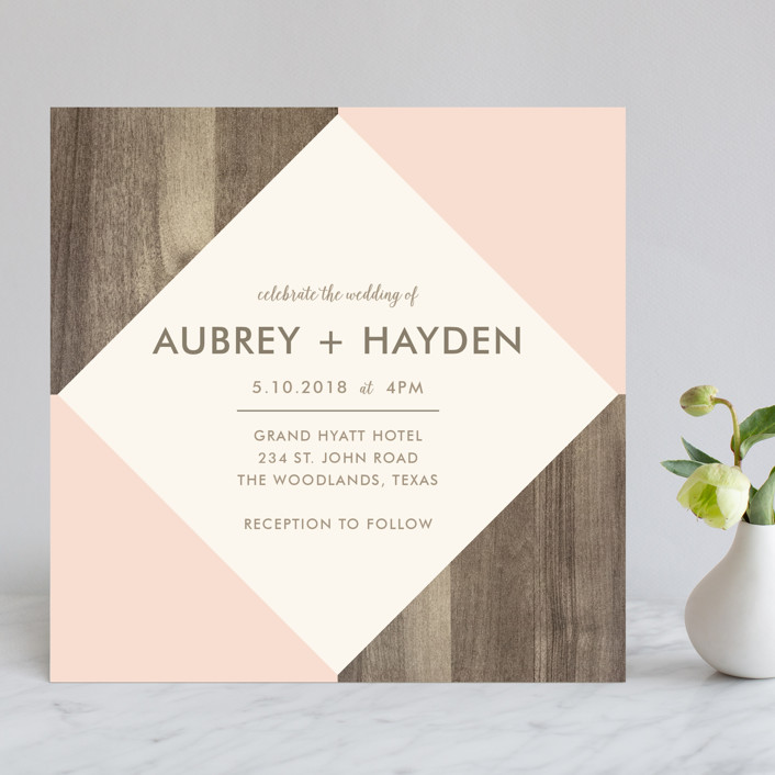 Modern barn wood wedding invitations by hanna mac minted modern barn wood rustic wedding invitations in rose by hanna mac stopboris Image collections