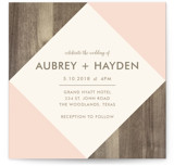 This is a pink wedding invitation by Johanna McShan called Modern Barn Wood with standard printing on signature in standard.