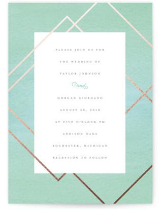 Watercolor Union Wedding Invitations