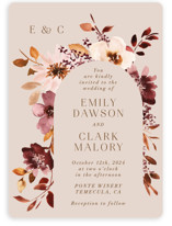 This is a pink wedding invitation by Petra Kern called Love Garden with standard printing on signature in standard.