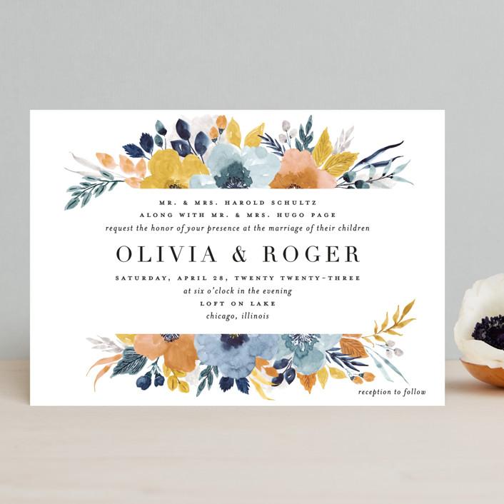 """Daydream"" - Wedding Invitations in Honey by Beth Schneider."