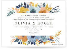 This is a yellow wedding invitation by Beth Schneider called Daydream with standard printing on signature in standard.