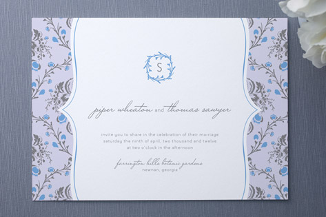 vine divine Wedding Invitations