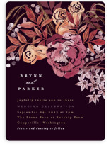 This is a purple wedding invitation by Alethea and Ruth called Fall Floral with standard printing on signature in standard.