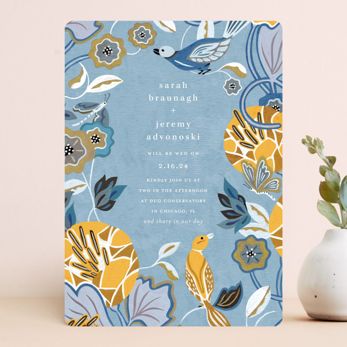 """The Love Birds"" - Wedding Invitations in Teapot by Morgan Ramberg."