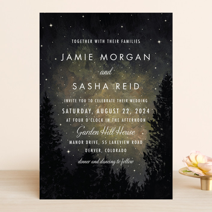 starry, starry night wedding invitations by elly | minted, Wedding invitations