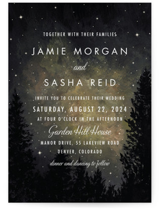 Starry, Starry Night Wedding Invitations