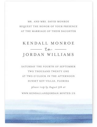 Watercolour Stripe Wedding Invitations
