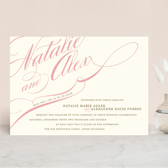 """Winter Flourish"" - Elegant, Formal Wedding Invitations in Robin's Egg by annie clark."