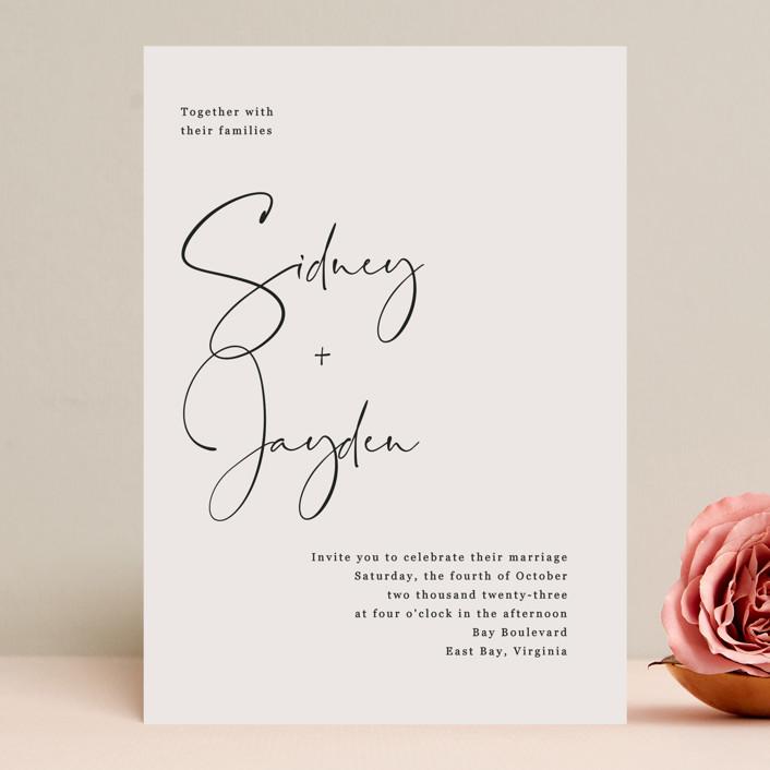 """stylist script"" - Wedding Invitations in Ivory by Cass Loh."