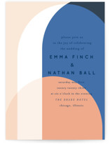 This is a blue wedding invitation by Baumbirdy called Color Arch with standard printing on signature in standard.