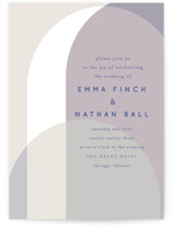 This is a purple wedding invitation by Baumbirdy called Color Arch with standard printing on signature in standard.