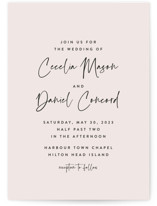 This is a pink wedding invitation by Lea Delaveris called In this together with standard printing on signature in standard.