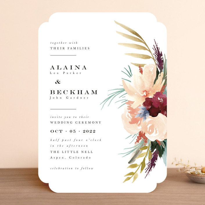 """rustic florals"" - Wedding Invitations in Garden by Kate Ahn."