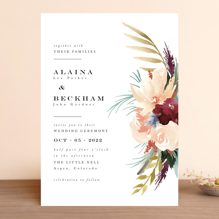 """rustic florals"" - Wedding Invitations in Garden by Kate Ahn."