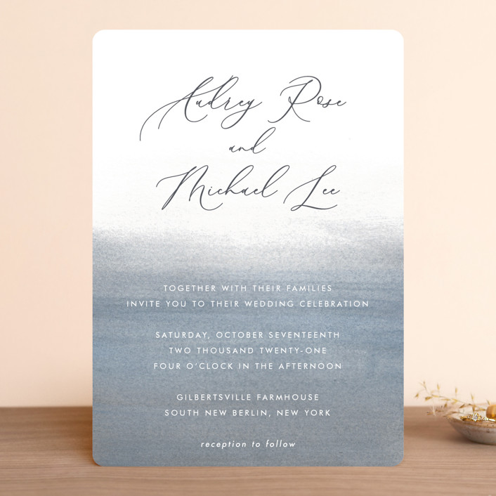 """""""Romantic Watercolor"""" - Wedding Invitations in Mist by Sparkvites."""