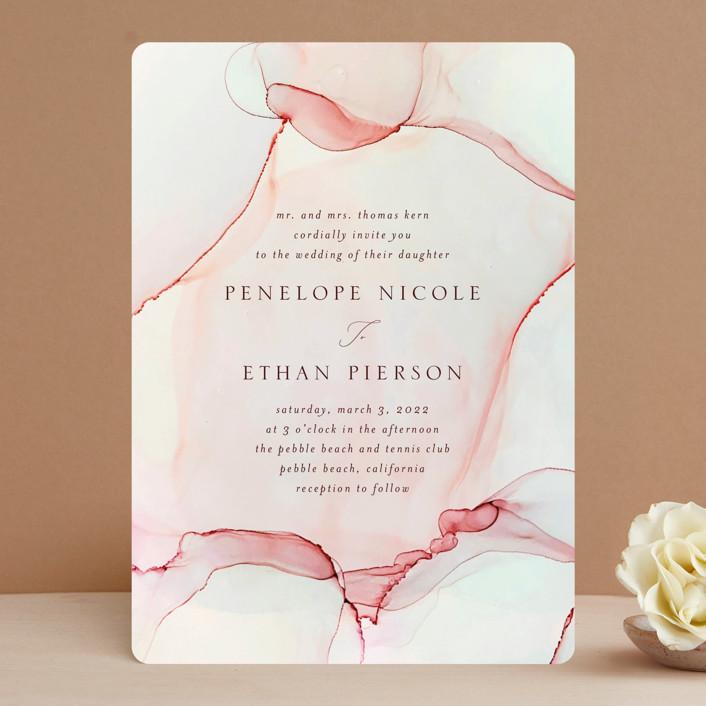 """opalescent"" - Wedding Invitations in Chalcedony by Erin Deegan."