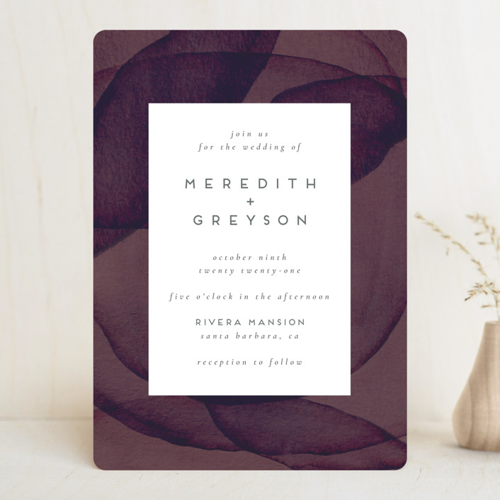 """Petalis"" - Wedding Invitations in Velvet by Christie Garcia."