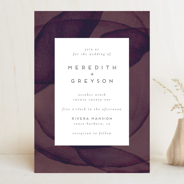 """Petalis"" - Wedding Invitations in Velvet by Christie Garcia."