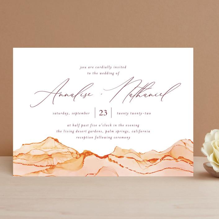 """Sandstone"" - Wedding Invitations in Topaz by Erin Deegan."