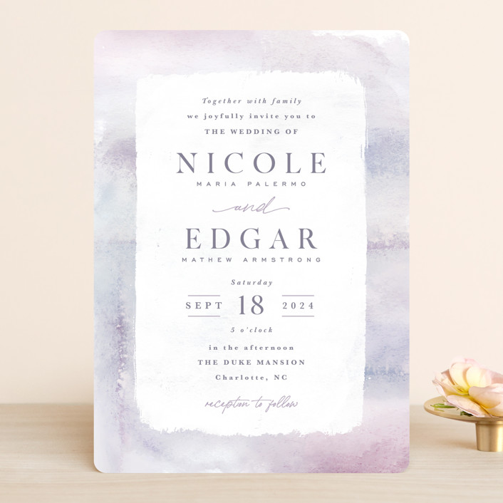 """Lavender Fields"" - Wedding Invitations in Lavender by Hooray Creative."