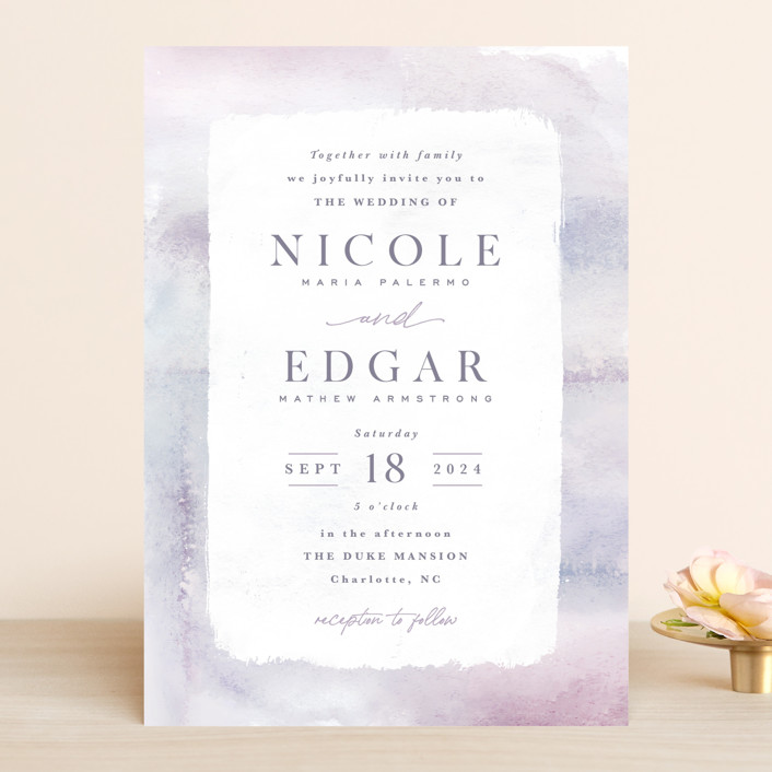 """Lavender Fields"" - Wedding Invitations in Lavender by Hooray Creative."