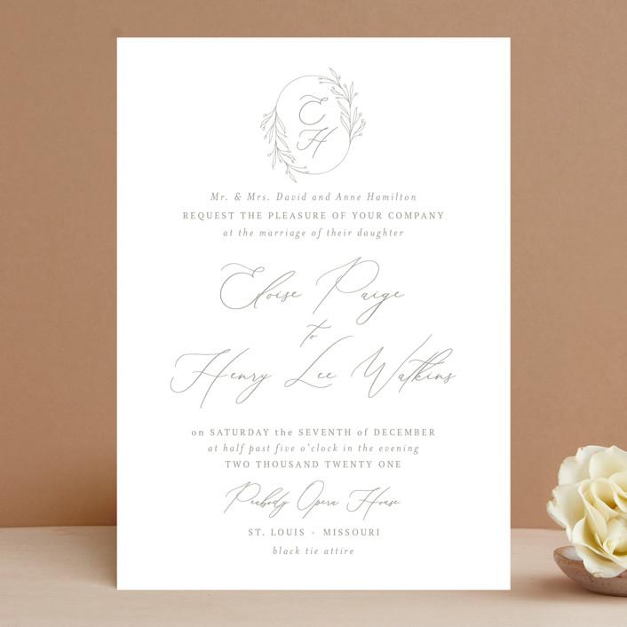 """Essential"" - Wedding Invitations in Mist by Design Lotus."