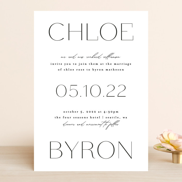 """chloe "" - Wedding Invitations in Silk by Kelly Schmidt."