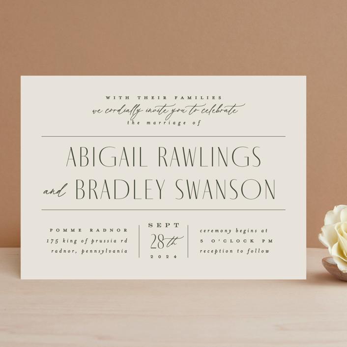 """Moderne"" - Wedding Invitations in Graphite by Everett Paper Goods."